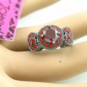 Black and red Betsey Johnson ring brand new